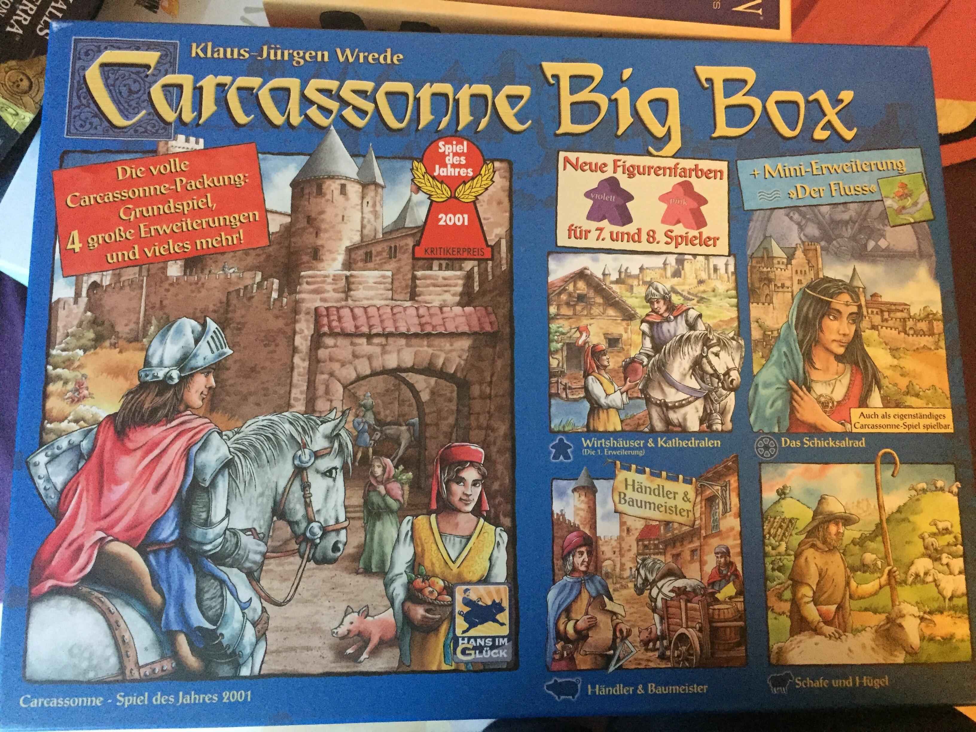 altes Layout Carcassonne Grundspiel